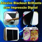 Adesivo Blackout Brilhante Impresso – Bloqueador