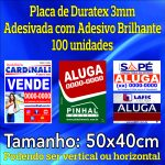 Placa Duratex 3mm Adesivada 50 x 40 cm – 100 unidades