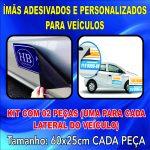 PAR DE ÍMÃS ADESIVADOS PERSONALIZADOS PARA CARRO – 60x25cm